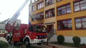 Feuerwehreinsatz in der Grundschule Mitte Coswig